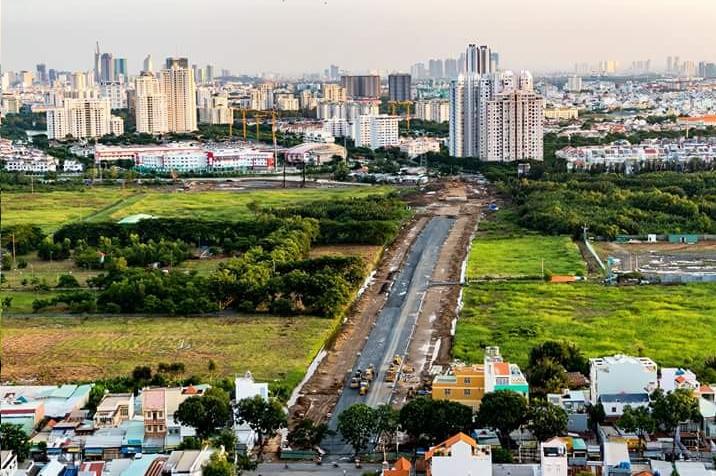 Đường Nguyễn Lương Bằng đang hoàn thiện vào quý I năm 2018