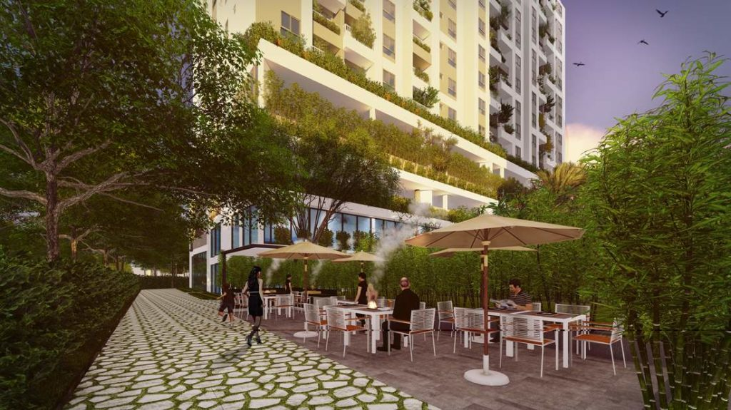 Sân Vườn Xung Quanh SaiGon South Plaza