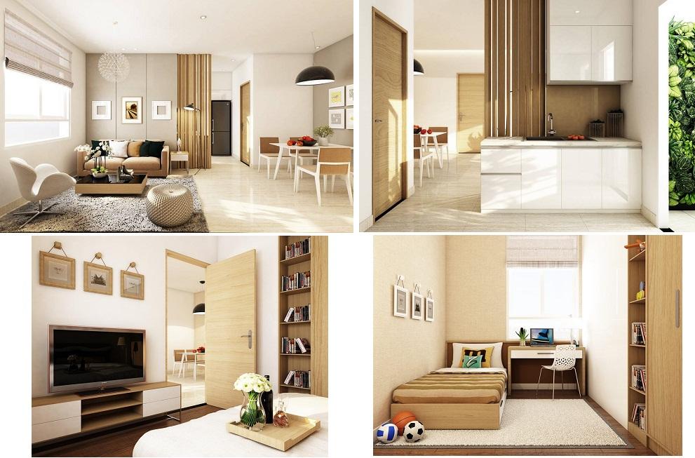 Tổng thể căn hộ kiểu mẫu Opal City Quận 9