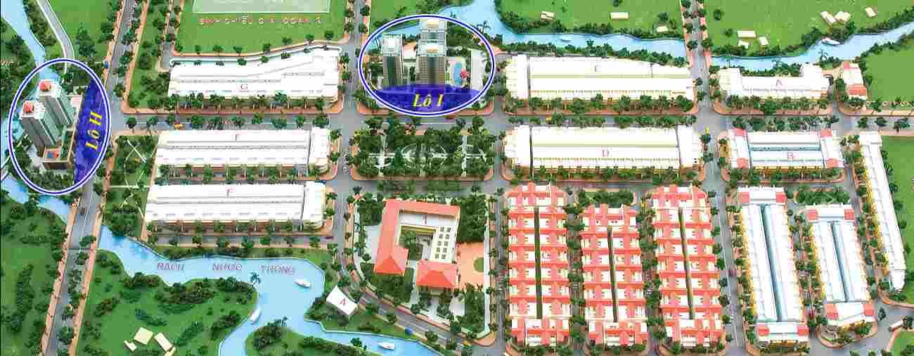 Tổng thể toàn khu dự án căn hộ chung cư thiết kế S-Home Bình Chiểu