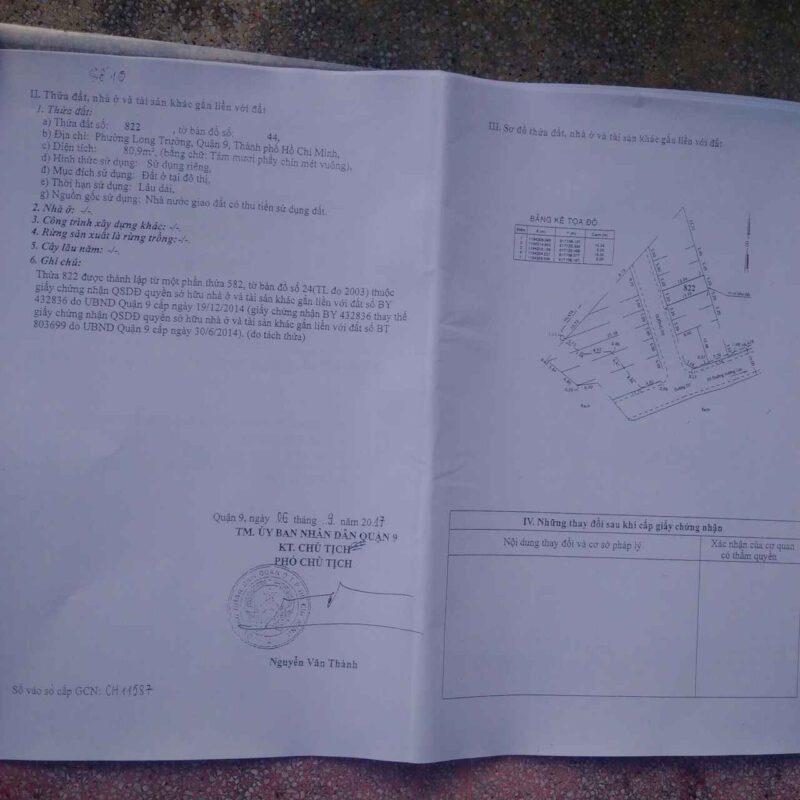 1 Trong 10 Cuốn Sổ Hồng Từng Lô Đất Nền Green Home Quận 9 Đường Trường Lưu