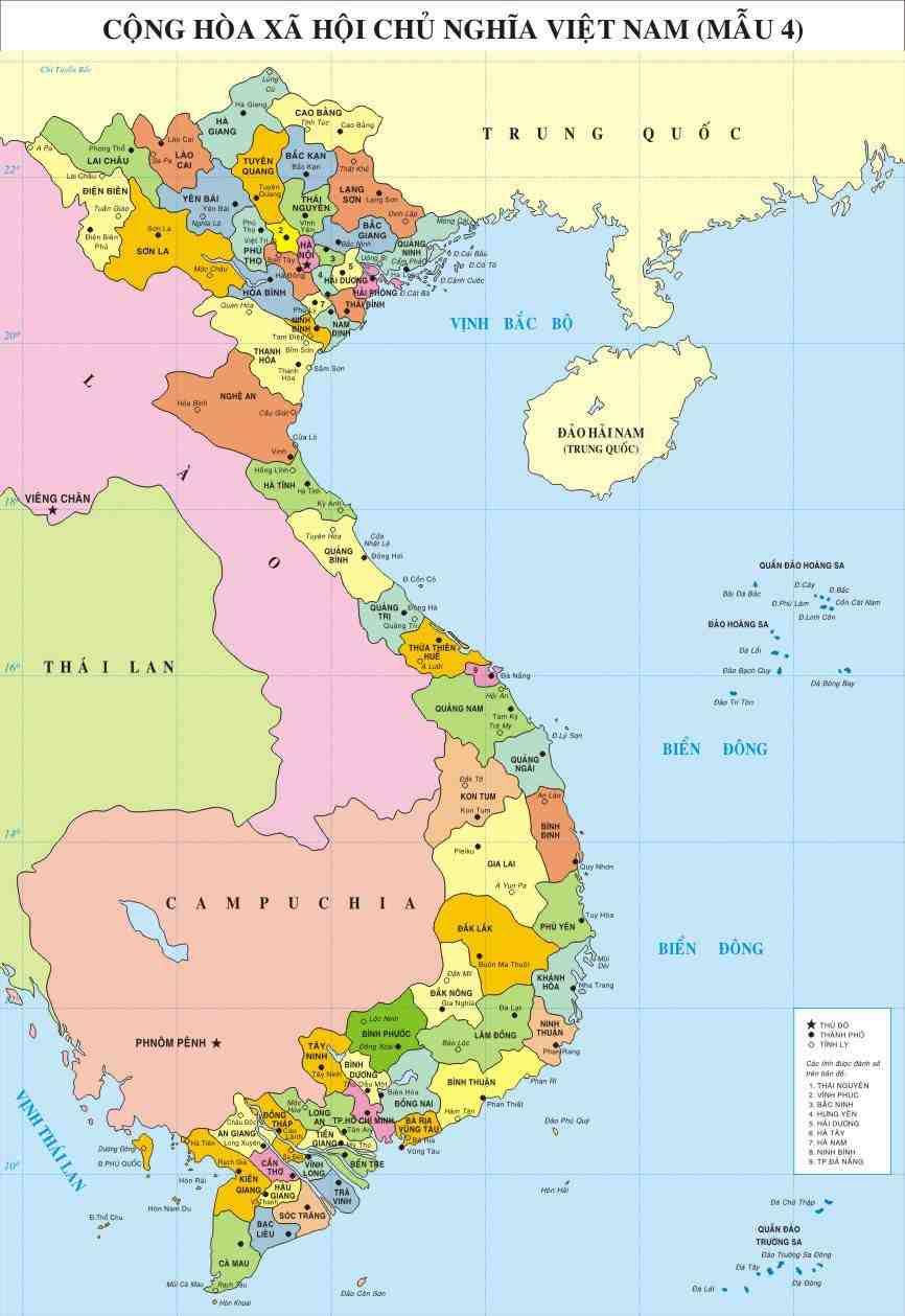 Bản đồ Việt Nam-Các khu kinh tế trọng điểm