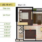 Thiết kế lại căn hộ số 13-14 khi phá cách 1. Quý khách hãy để ý vạch màu đỏ