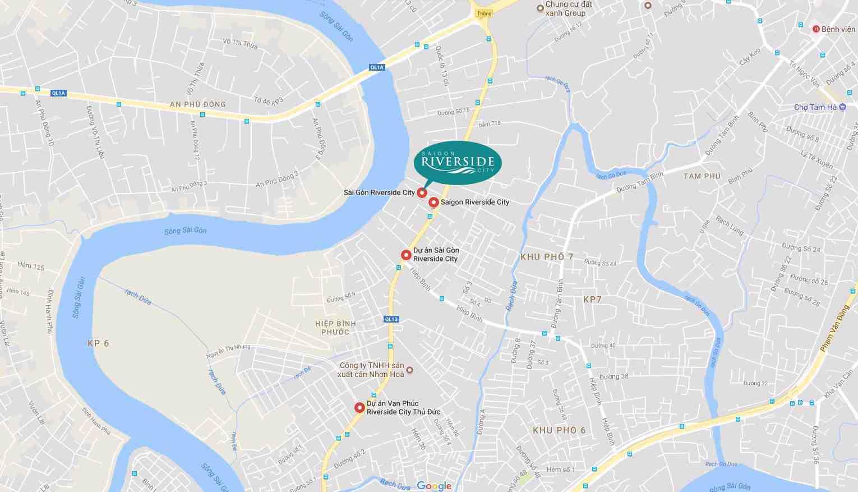 Vị trí Saigon Riverisde City Quận Quốc Lộ 13 Thủ Đức
