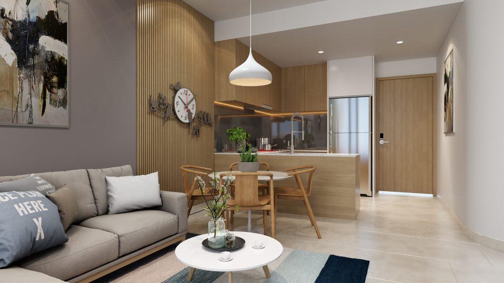 Phòng khách căn hộ Aurora Residence Quận 8