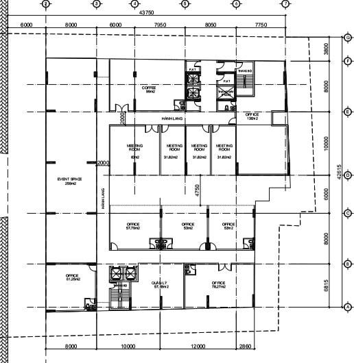 mặt bằng tầng Officetel Four Square quận 4