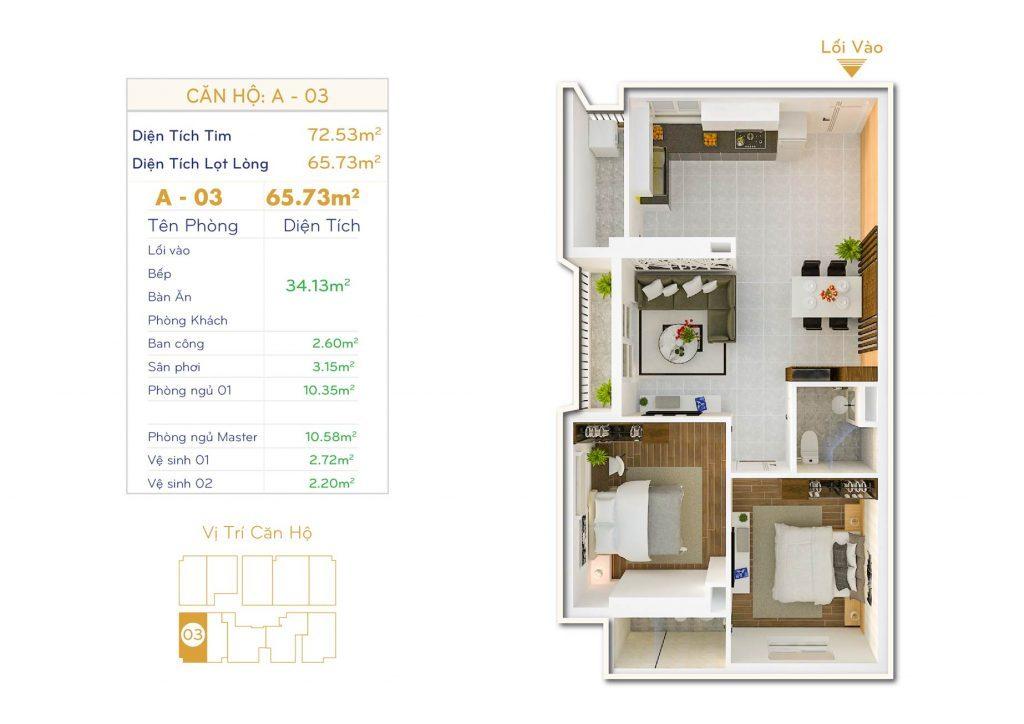Căn 2PN Dự án căn hộ Thiết kế Orchid Park Phú Xuân Nhà Bè (2)