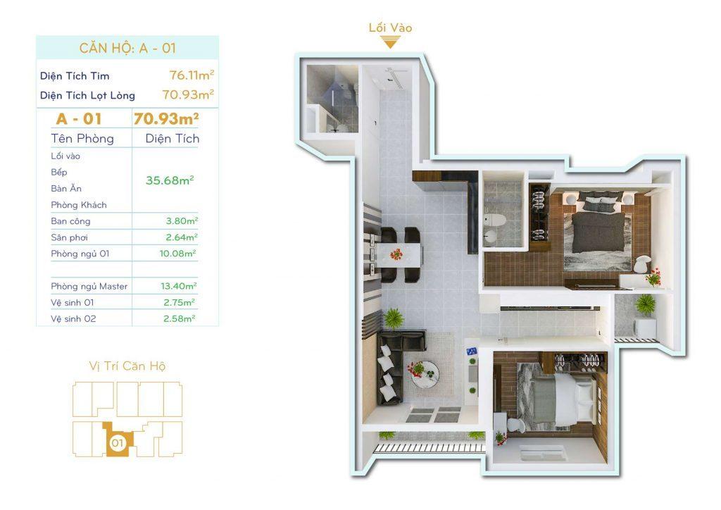 Căn 2PN Dự án căn hộ Thiết kế Orchid Park Phú Xuân Nhà Bè (3)