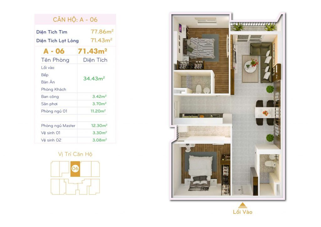 Căn 2PN Dự án căn hộ Thiết kế Orchid Park Phú Xuân Nhà Bè (4)