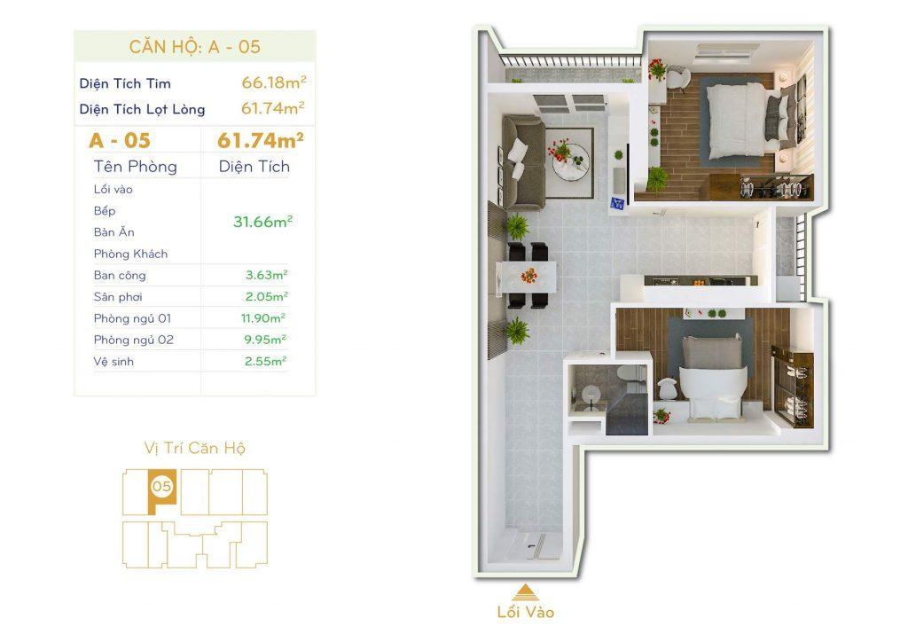 Căn 2PN Dự án căn hộ Thiết kế Orchid Park Phú Xuân Nhà Bè (5)