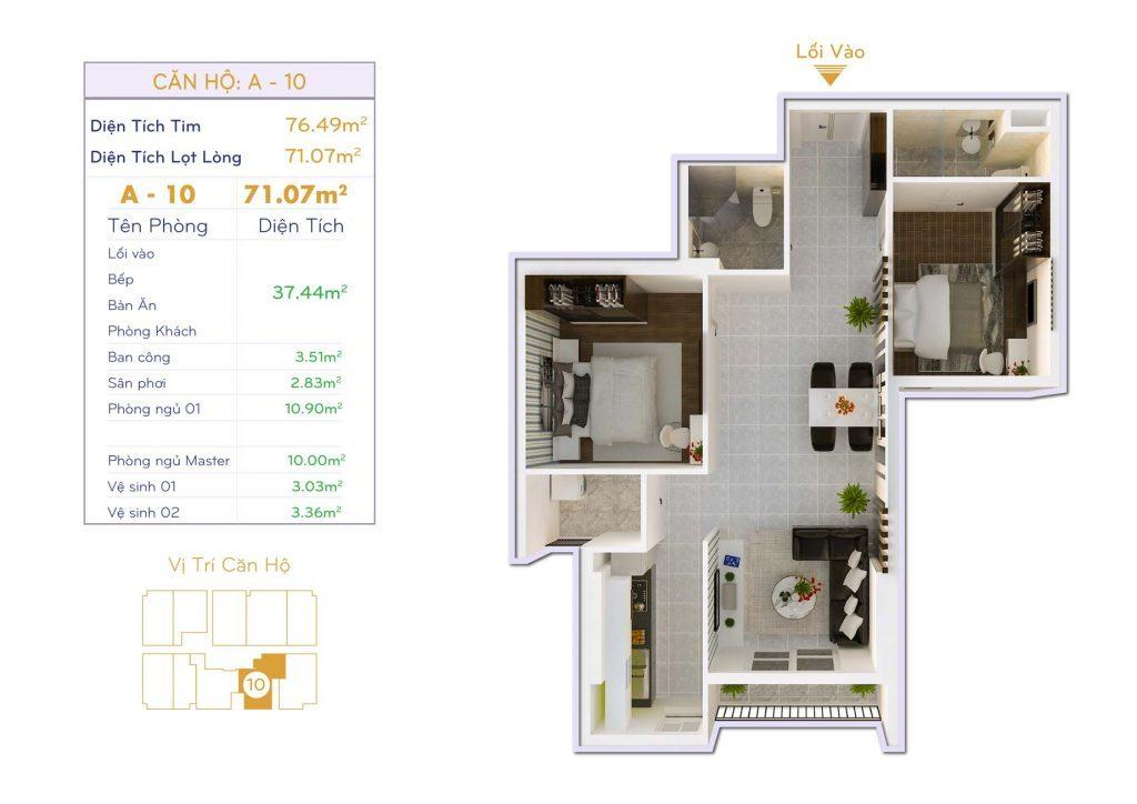 Căn 2PN Dự án căn hộ Thiết kế Orchid Park Phú Xuân Nhà Bè (6)