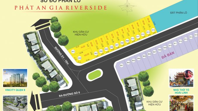 Dự án đất nền Phát An Gia Riverside Quận đường D1-Nguyễn Xiển