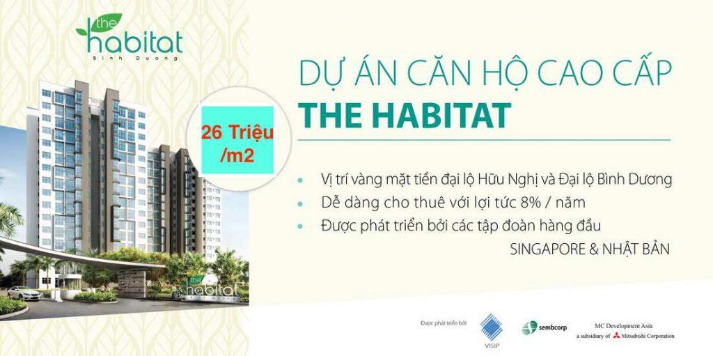 Dự án chung cư cao cấp căn hộ The Habitat Bình Dương Giai đoạn 2