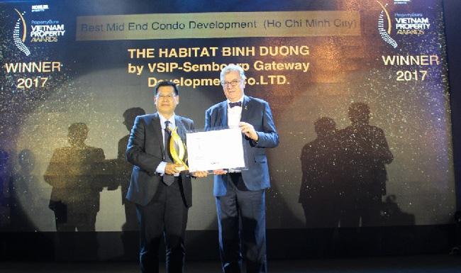 Giải thưởng đạt giải căn hộ tầm trung cao cấp của căn hộ The Habitat Bình Dương - Chủ đầu tư The Habitat Visip