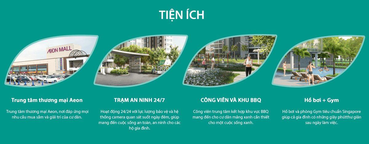 Tiện ích Dự án chung cư căn hộ The Habitat Bình Dương