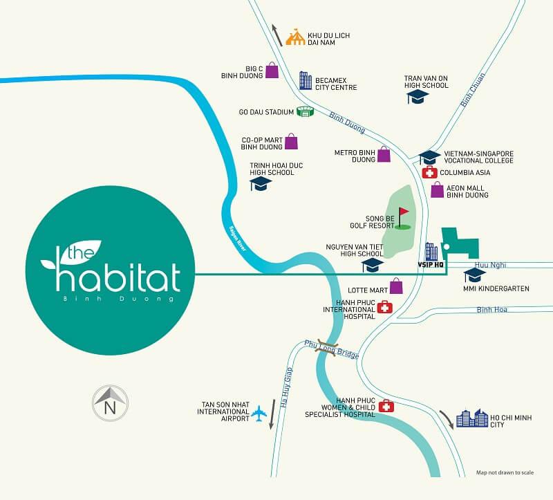 Vị trí Dự án chung cư căn hộ The Habitat Bình Dương - Chủ đầu tư The Habitat