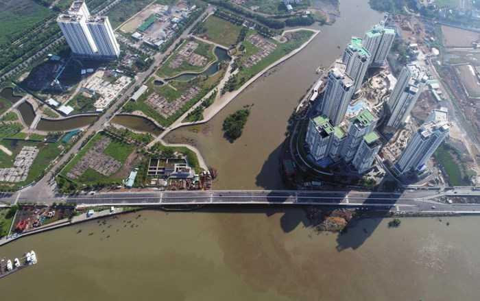 Cầu qua Đảo Kim Cương Quận 2 -