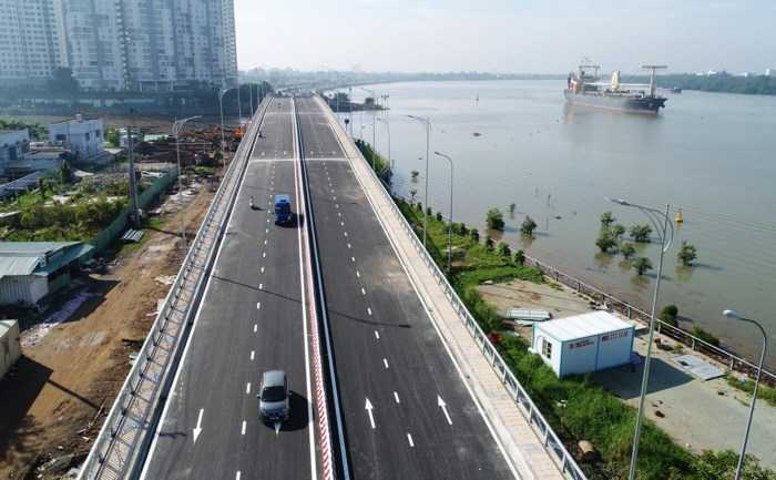 Cầu qua Đảo Kim Cương quận 2