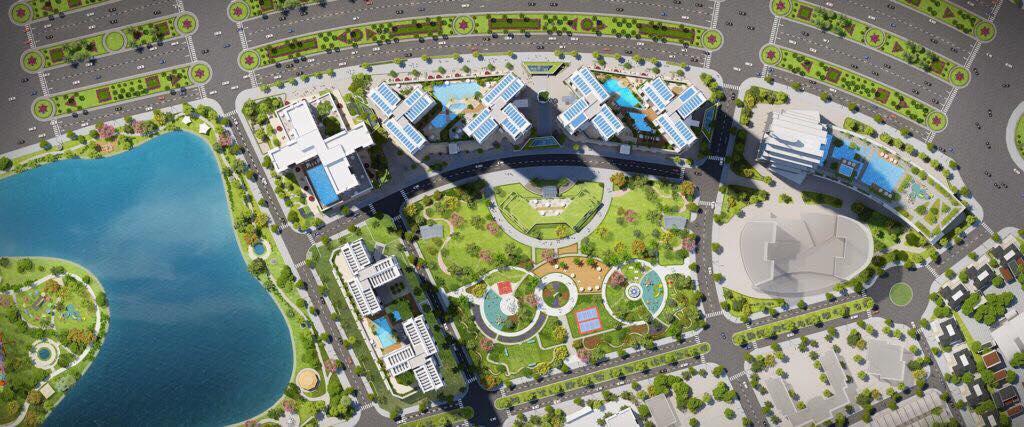 Mặt bằng từ trên cao dự án căn hộ cao cấp Eco Green Saigon Quận 7