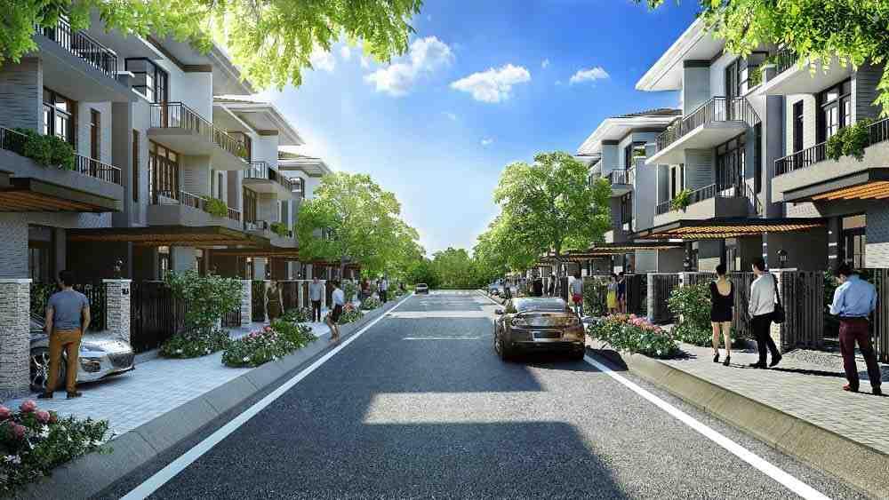 Mô phỏng dự án nhà phố thương mại Eco House Ngã 4 Xoài Đôi Bến Lức Long An