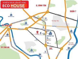 Vị trí dự án nhà phố thương mại Eco House Xoài Đôi Bến Lức Long An