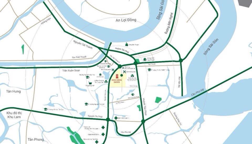 Vị trí vàng dự án căn hộ cao cấp Eco Green Saigon Quận 7