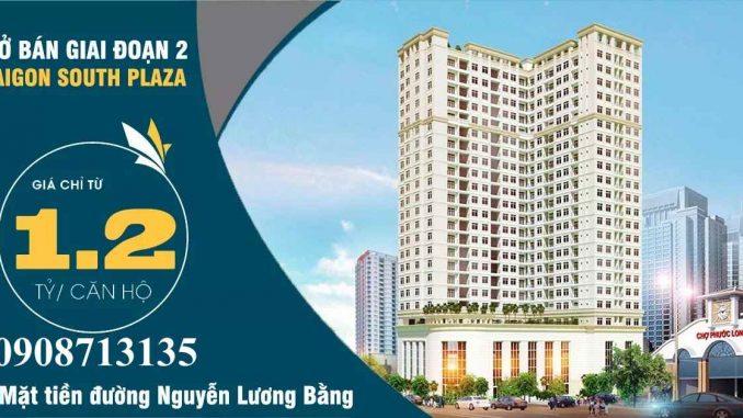 Banner dự án căn hộ Sài Gòn South Plaza Quận 7