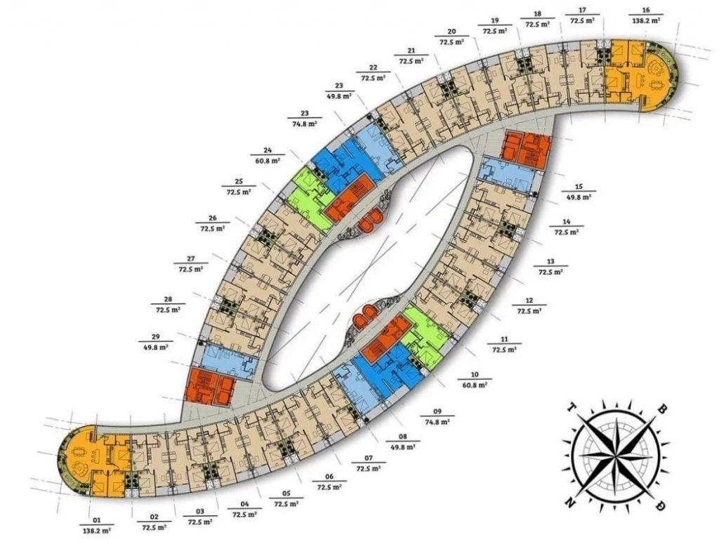 Mặt bằng Dự án căn hộ chung cư cao cấp nghỉ dưỡng Gate Way DIC Vũng Tàu