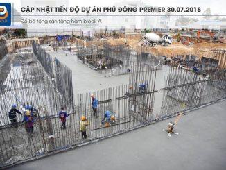 Cập nhật tiến độ dự án Phú Đông Premier