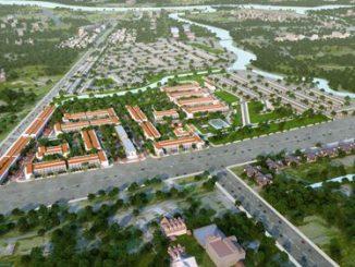 Hình phối cảnh tổng quan dự án Long Hậu Riverside với quy mô đến 20ha