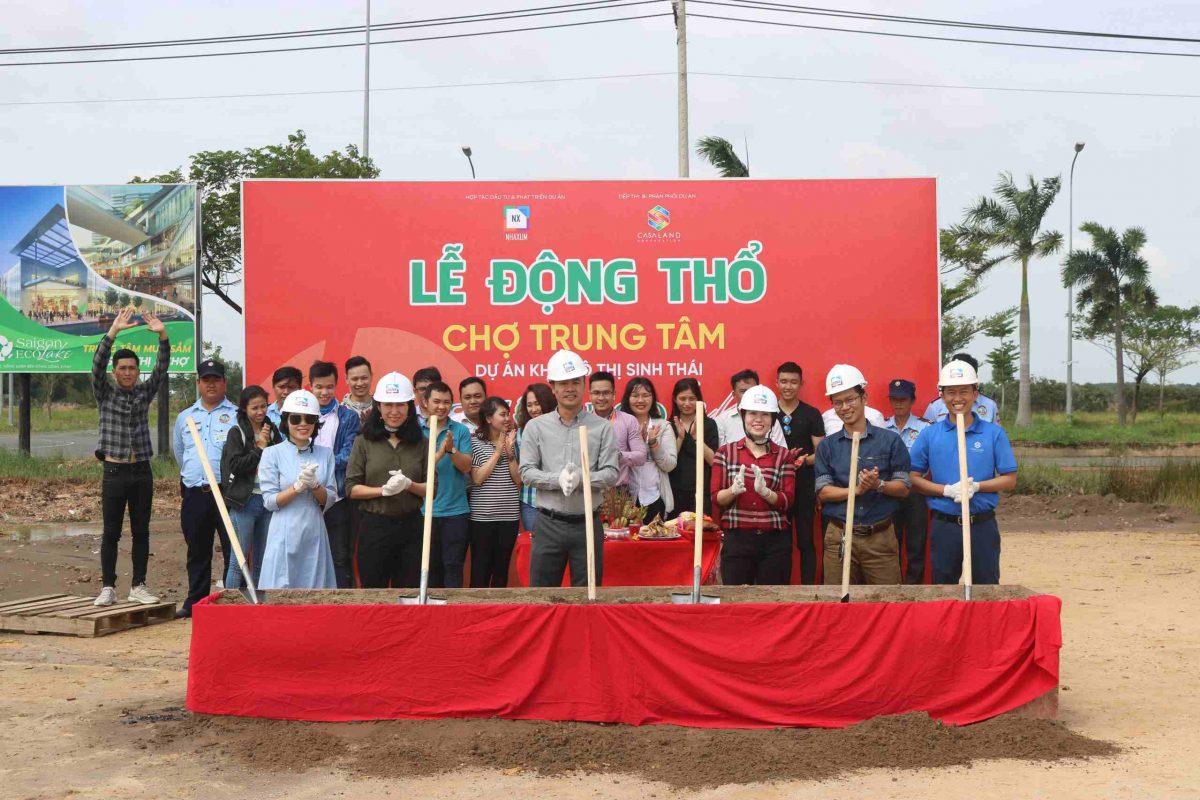Lễ động thổ khu chợ trung tâm dự án sinh thái Saigon Eco Lake