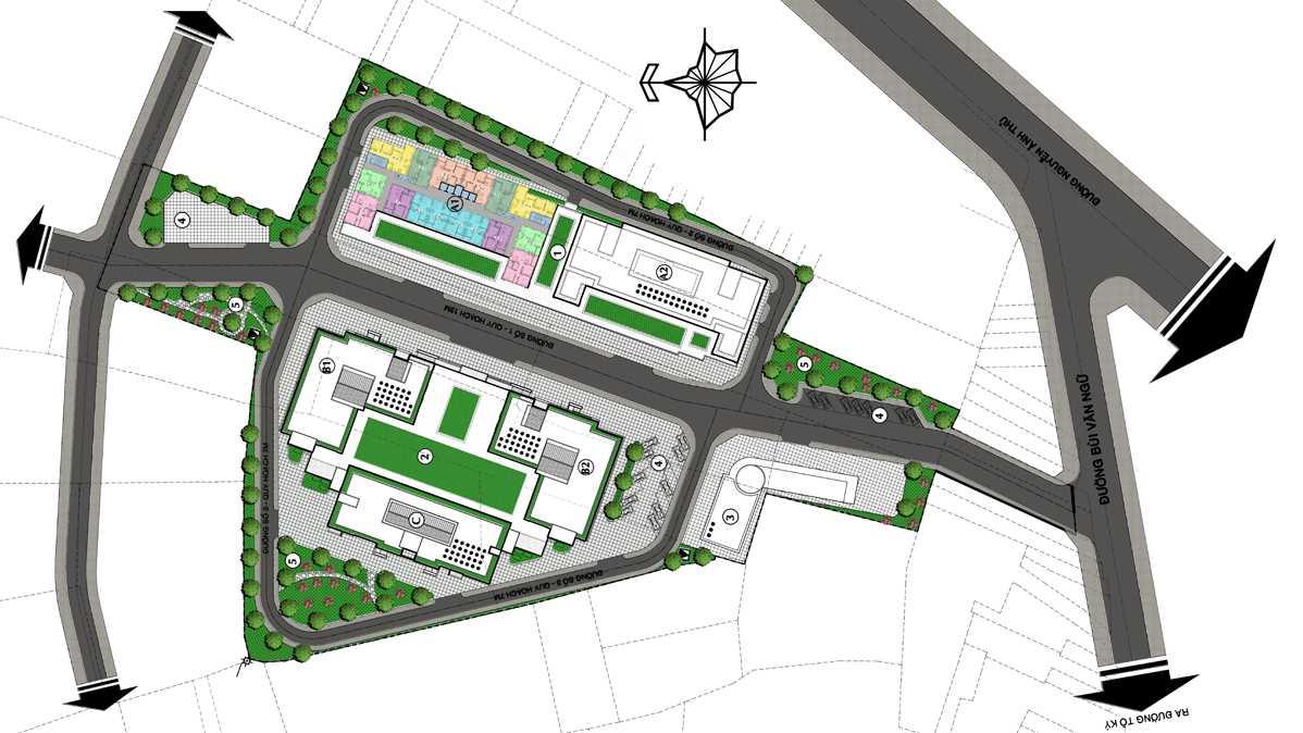 Mặt bằng dự án căn hộ chung cư ST City Hóc Môn TPHCM