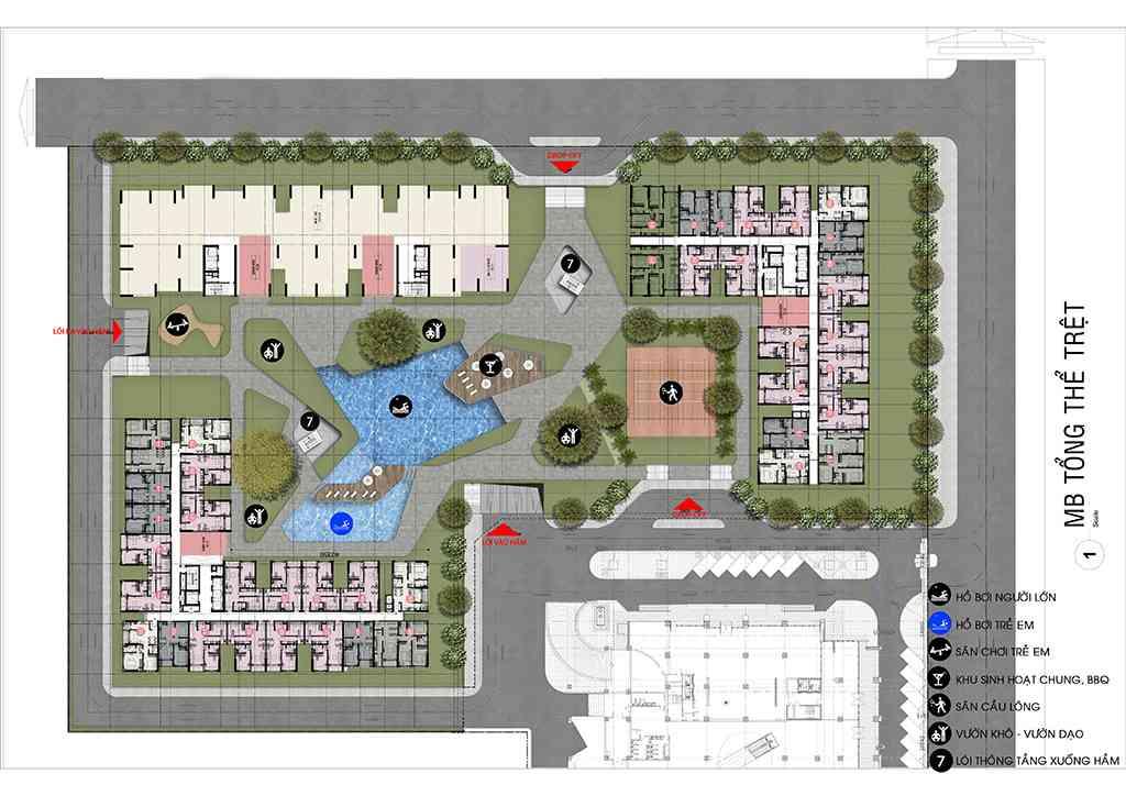 Mặt bằng tầng Dự án căn hộ chung cư Cộng Hoà Garden Quận Tân Bình