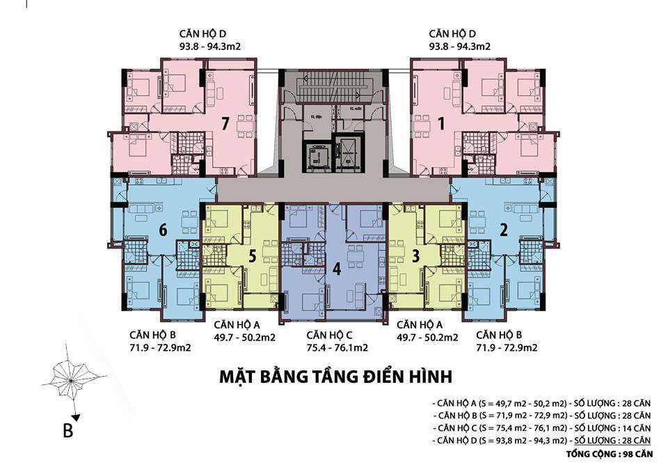 Mặt bằng tầng Tổng quan dự án căn hộ chung cư Centeria Đông Thuận Quận 12
