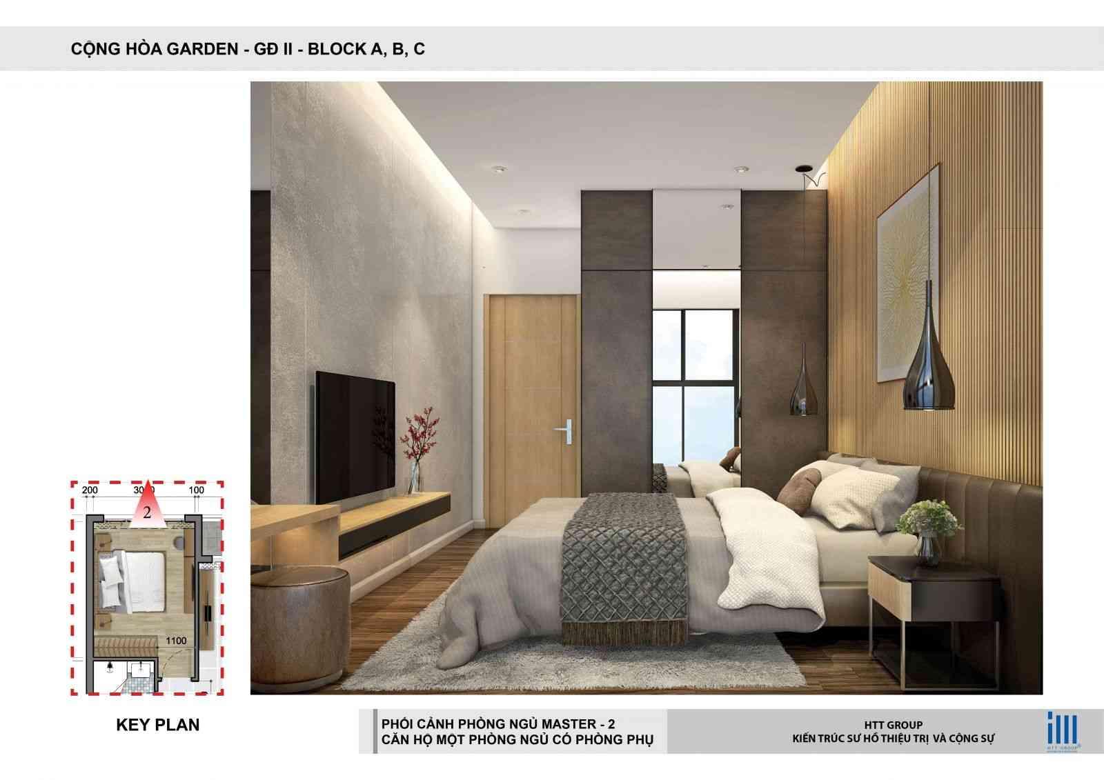 Phòng ngủ Dự án căn hộ chung cư Cộng Hoà Garden Quận Tân Bình