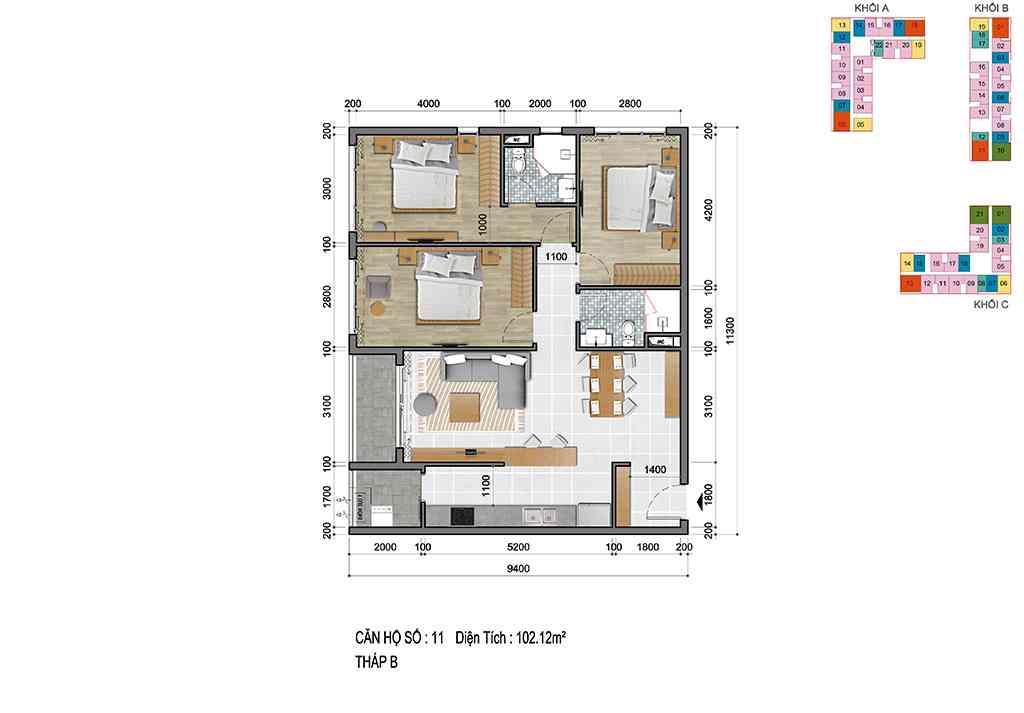 Thiết kế Dự án căn hộ chung cư Cộng Hoà Garden Quận Tân Bình