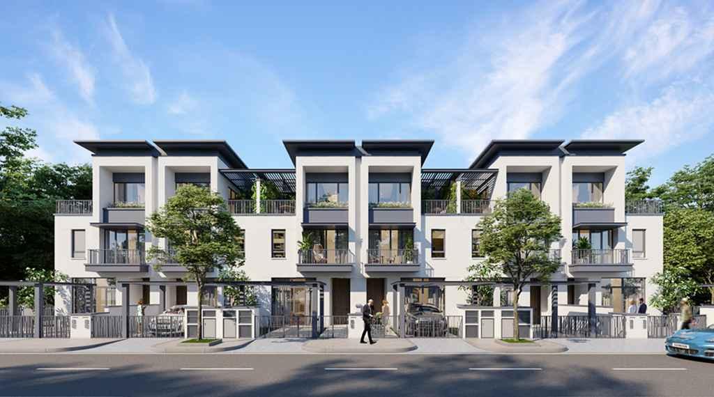 Thiết kế nhà phố liền kề Long Tân City Đồng Nai