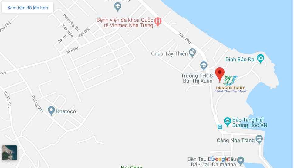 Vị trí Tiện ích dự án căn hộ khách sạn nghỉ dưỡng Dragon Fairy Trần Phú Nha Trang