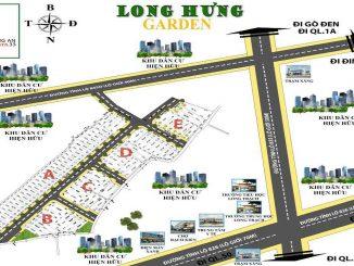 Vị trí mặt bằng phân lô dự án đất nền khu đô thị Hưng Long Garden Long An