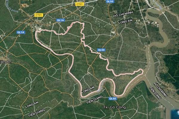 Bản đồ vệ tinh quy hoạch huyện Cần Đước – Long An