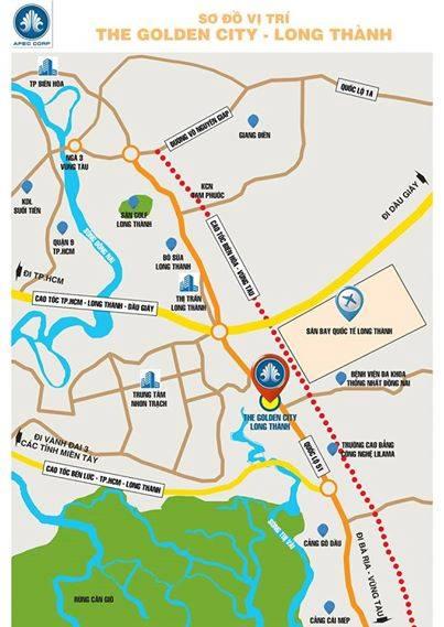 Dự án đất nền The Golden City Long Thành Đồng Nai