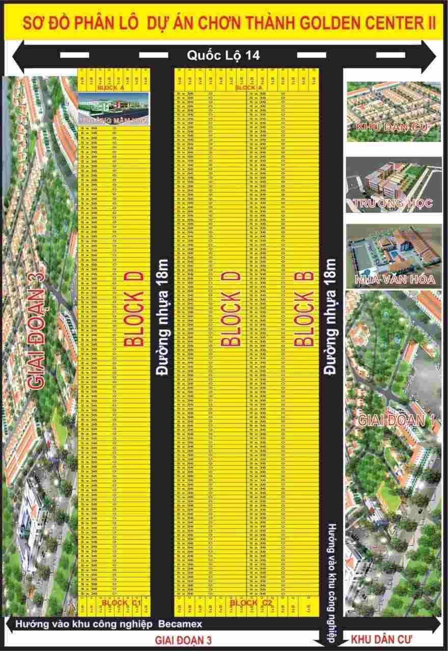 Dự án đất nền chơn thành golden center 2 Quốc Lộ 14