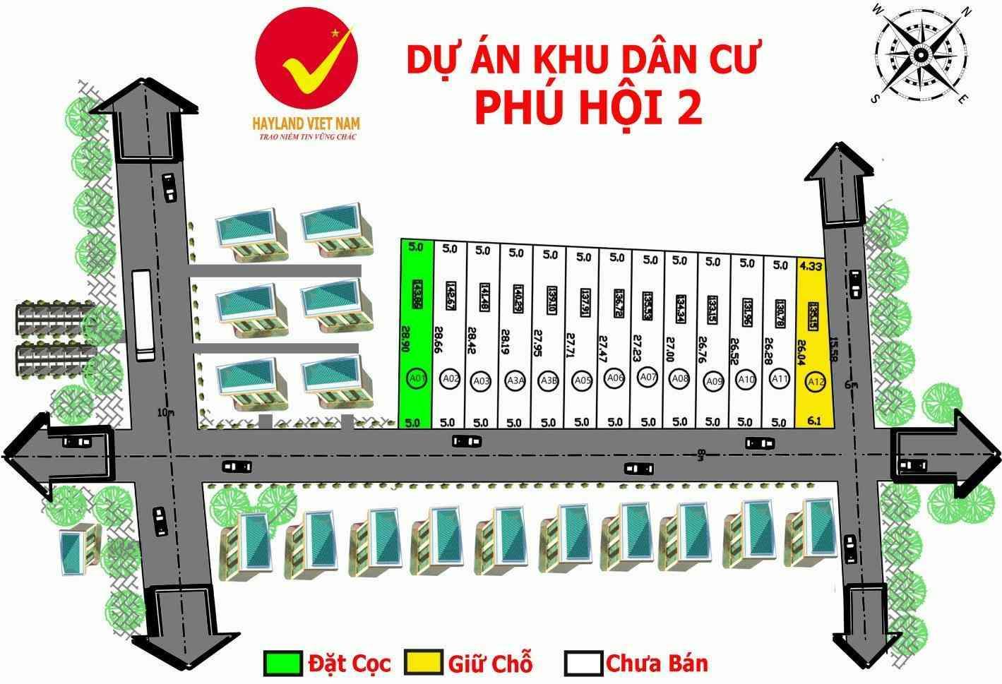 Dự án khu dân cư Phú Hội 2 Nhơn Trạch Đồng Nai