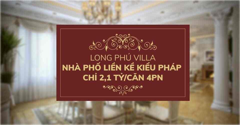 Giá bán Vị trí dự án đất nền nhà phố khu dân cư đô thị Long Phú Villa Bình Chánh - Trần Anh