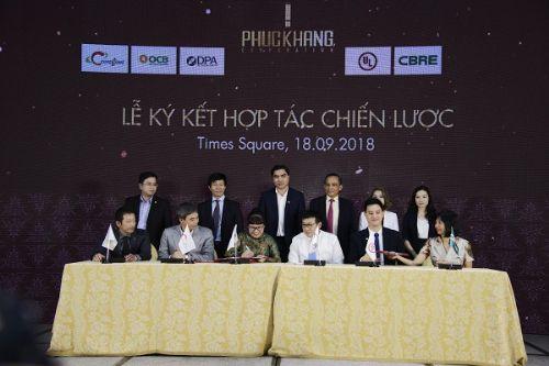 Lễ ký kết hợp tác chiến lược giữa Phúc Khang và các đối tác vừa diễn ra hôm 18-9