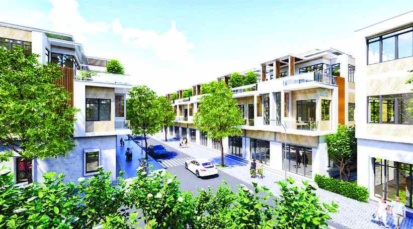 Mẫu nhà phố tham khảo dành cho Quý khách hàng xây dựng tại Hoàng Phúc Residence