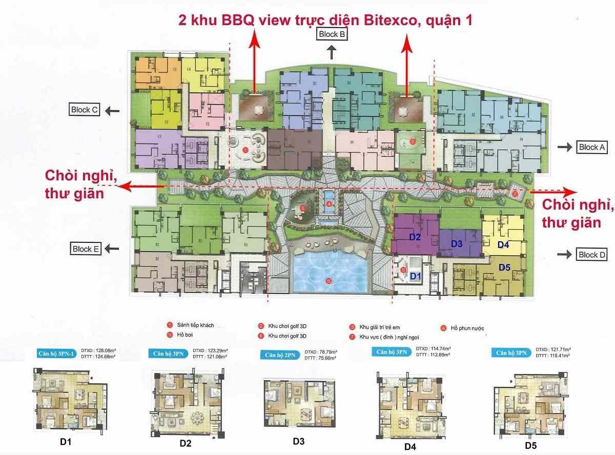 Mặt bằng Dự án căn hộ chung cư Cosmo City Nguyễn Thị Thập Quận 7
