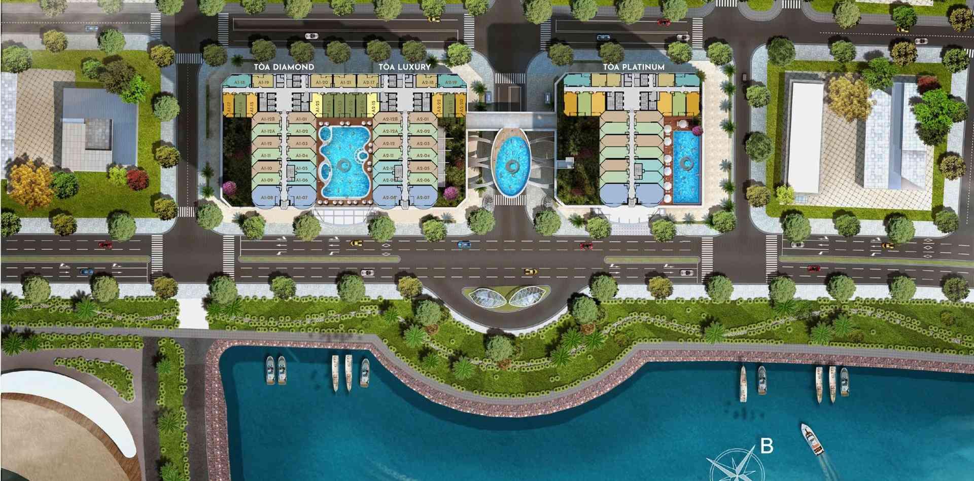 Mặt bằng dự án Swisstouches La Luna Resort Nha Trang