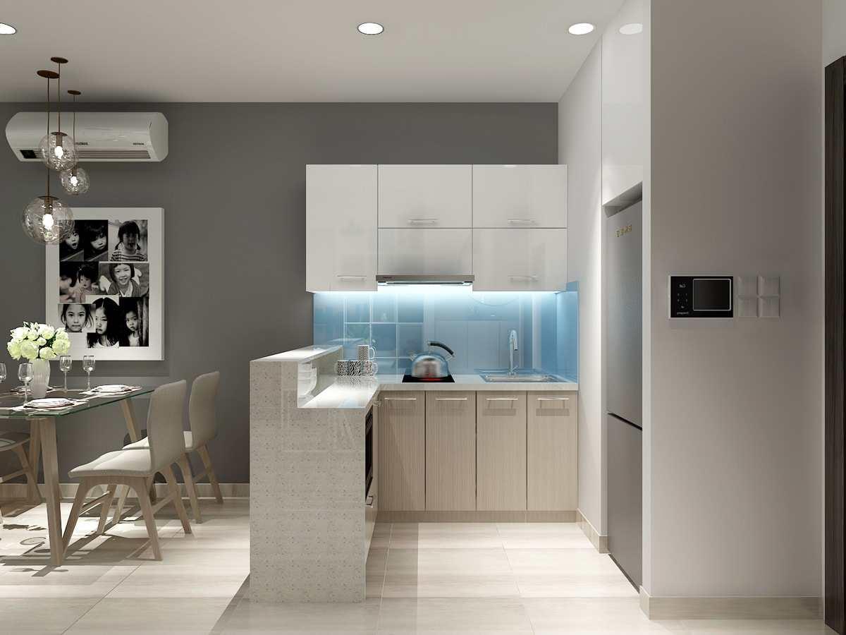 Nội thất phòng bếp Dự án căn hộ CT Home Nơ Trang Long - Phạm Văn Đồng Quận Bình Thạnh