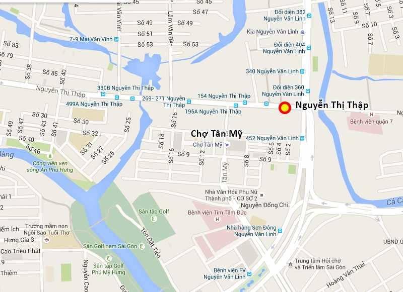 Vị trí - Chung cư căn hộ đường Nguyễn Thị Thập Quận 7